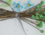 N1507C Head Pins Stems Stem Ball Headpins Stamens Genuine Wire Sparkle Stamen