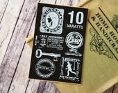 Cut & Paste Vintage style PU Leather sticker - 10 Varattu