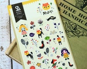 Midori Sonia My Mysterious Forest Friends scrapbooking stickers