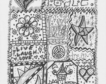 Peace Love and Crazy Quilts...a coloring book inspired by my quilting projects