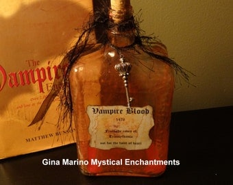 LARGE Vampire Blood Glass Bottle