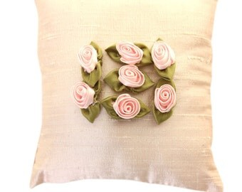 Rosette Silk Sachet, Lavender Sachets, Home Fragrance, Closet Freshener, Gift-for-Her, Bridal Gifts, Hostess Gifts, Wedding Favors