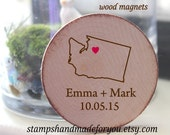 Custom order for Desirae Rustic Wedding magnets / custom favors / Custom Magnets  Rustic Wedding  / Favor Wood Magnets-