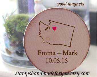 wooden Save The Date Magnet, Rustic  Wedding Magnet, destination Save the Date Personalised Wedding Invite,rustic Wedding favor Magnet