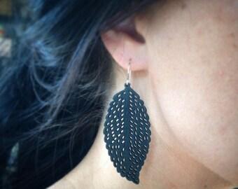 Feather Earrings, Wood Earrings, Laser Cut Wood Earrings, Bohemian Style, Boho, Inspired by Nature, Lightweight Earrings