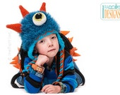 CROCHET PATTERN GooGo the Sea Monster Hat Crochet Pattern in PDF