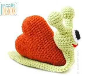 PATTERN Cupid The Love Snail Stuffed Alien Monster Animal Toy Crochet PDF Pattern