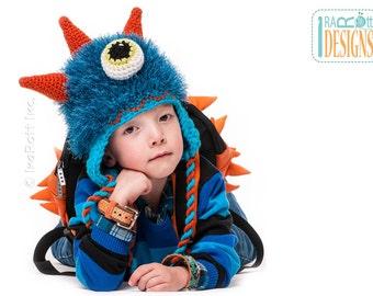 CROCHET PATTERN GooGo the Sea Monster Hat Crochet Pattern in PDF