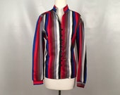 Vintage Multicolored Stripe Blouse