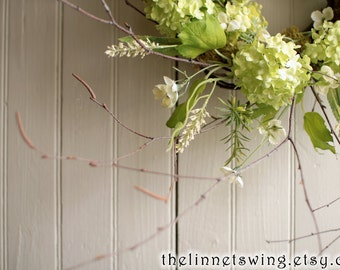 Bushes and Briars Wreath - Spring Wreath - Green Cottage Wreath - Spring Wreaths