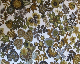 "Beautiful Earth Tones Heavy Cotton Drapery Fabric Sample 48"" Wide by 33"" Long"