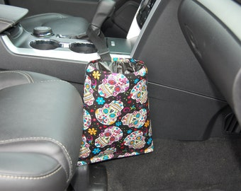 Car Trash Litter Bag Sugar Skull