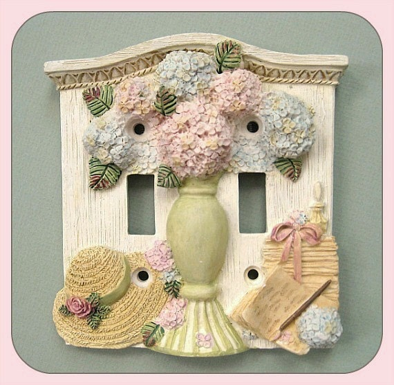 switch plate switch cover light switch cover plate switchplate double light wall outlet lightswitch decorative flower - Decorative Light Switch Covers