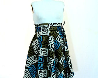 """African Print Skirt Plus Size  ( 2 - 24 ) 30"""" L ...choose your fabric"""