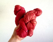 Silk Blend Merino Yarn Fingering 4 Ply 100g (3.5oz) Tomato Red Yellow Orange Warm