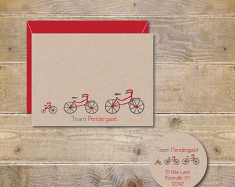 Baby Bicycle Thank You Cards, Tricycles, Bikes, Bicycle Cards, Baby Bicycle Announcement, Tricycle Baby Announcements