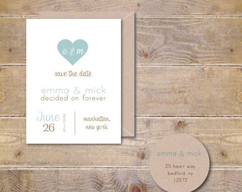 Heart Save The Dates, Wedding Save The Dates, Rustic Save the Date Sets, Affordable Weddings, Outdoor Weddings