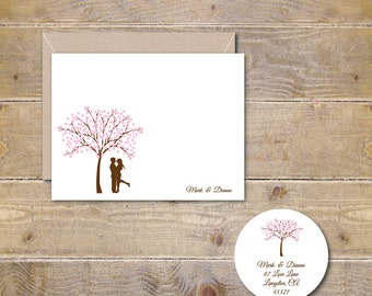 Cherry Tree, Wedding Thank You Cards, Cherry Blossoms, Bridal Shower Thank You Cards, Thank You Cards, Outdoor Weddings, Cherry Blossom Tree