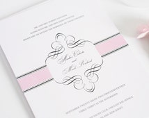 1920s Wedding Invitations Pink, White, Vintage - Purchase this Deposit to Get Started