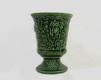 Vintage Planter Pot Green Face USA Art Pottery