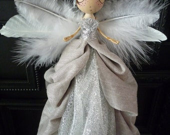 Angel Tree Topper Etsy - Christmas Tree Angel Toppers