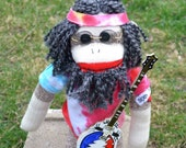 Jerry Garcia inspired Sock Monkey Doll 50th Anniversay Special