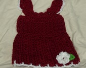 Girls Tank Top; Made To Order, Size Newborn To Size 10. Flower Embellished Tank Top Your Choice Of Size & Color