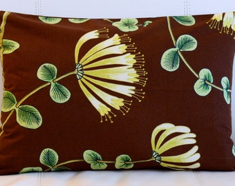 "14""x20"" Marimekko Pillow Cover. ""Kuusama"" cotton fabric Designed By Tanja Orsjoki. (35x50cm)"