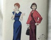 Butterick 7434 1950s Sheath Dress & Jacket Vintage Sewing Pattern Bust 36