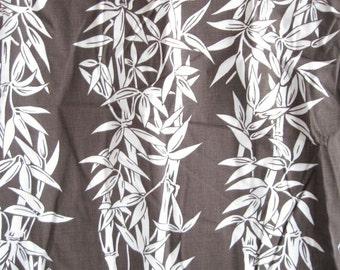 Brown Vine Leaf Cotton Fabric Hawaiian Yardage Home Decor