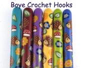Boye Polymer Clay Covered Crochet Hook, Hedgehog Design