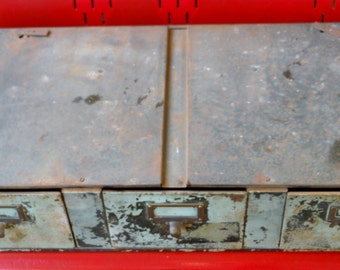 Antique Metal 33 Inches Wide File Cabinet With Three Drawers (50 % OFF APPLIED)