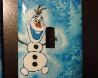 Disney Frozen Olaf Single Toggle Light Switch Cover Plate
