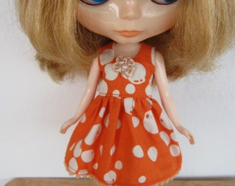Orange Balloons Dress for Blythe doll