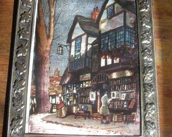 Uden Foil Art Print  in Elpec Brass Frame