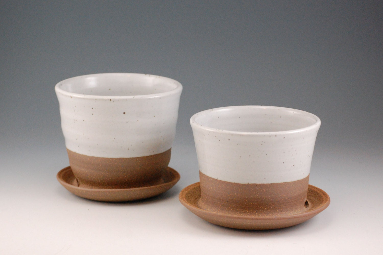 Ceramic Flower Pots Pottery Planters Great for by SawyerCeramics