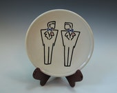 Groom and Groom Wedding or Anniversary Wall Plate - Mr. and Mr.
