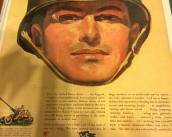 1944 patriotic tribute Pontiac division of General Motors. Army. Pearl Harbor. Patriotic.