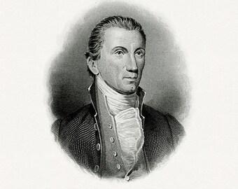 Bureau of Engraving and Printing reproduction Intaglio engraving 8 x 10 James Monroe