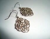 Sterling Silver Filigree Earrings, Sterling Silver Ear Wires, Moroccan Earrings, BOHO Chic, Bohemian Filigree, Persian Earrings, Womans Gift