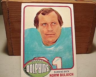 Norm Bulaich, Miami Dolphins Card, Football Card, Topps Football, 1976 Topps, NFL Card, Football, Sports Card, 1975 Dolphins, Sports