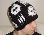 Syn Synyster Gates Hat, Synyster Gates Beanie, Skull Knit Hat, Teen Mens Hat, Winter Accessories, Music Festival Fashion, Teen Mens Gift