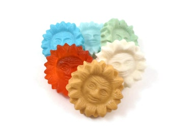 Sun Soaps | 6 Surprise Color/Scent Sun Soaps | Glycerin Soap | Colors and Scents of my choice | Sample Soap | Teacher Gift | Sunshine Soap