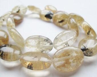 Honey Glass Oval Beads 12x18mm Full Strand