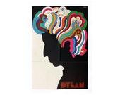 "Milton Glaser ""Dylan"" poster, 1966. Original issue."