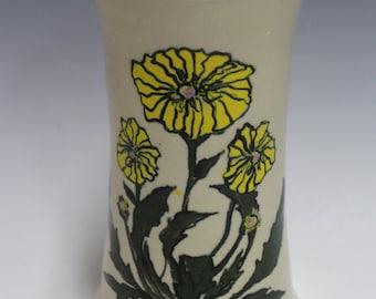 Dandelion Stoneware Vase