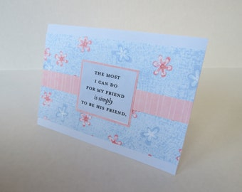 Simply Be A Friend Christian Friendship Card With Scripture