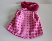 Pink Dots Print Bib and Coordinating Hair Band: Bib 'n Bow Baby Girl Gift, Baby Girl Shower Gift
