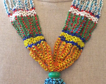 Lovely beaded vintage necklace from Southern Morocco.