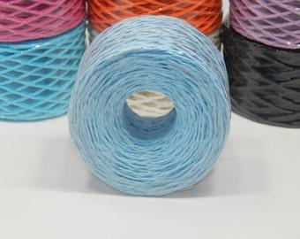 100m  Spool of Light Blue Paper Twine
